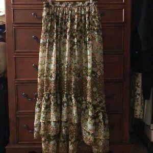 H&M hi-low peasant skirt Size 10